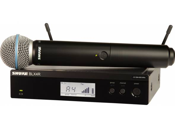 Sistema sem fios com microfone de mão Shure BLX24R/B58