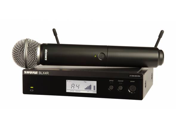 Sistema sem fios com microfone de mão Shure BLX24R/PG58