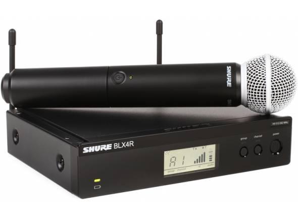 Sistema sem fios com microfone de mão Shure BLX24R/SM58