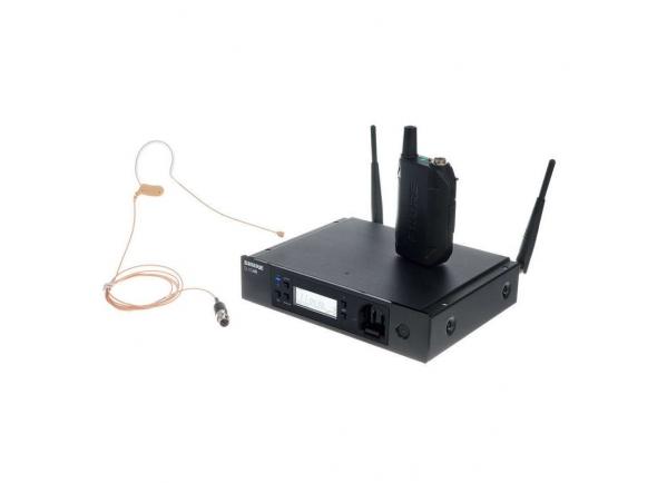 Sistema sem fio com microfone de cabeça/Sistema sem fio com microfone de cabeça Shure GLXD-RE14/MX53