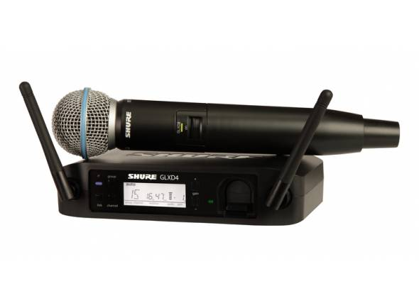 Wireless Sistema/Sistema sem fios com microfone de mão Shure GLXD24/Beta58 Z2