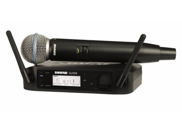 Sistema sem fios com microfone de mão Shure GLXD24/Beta58