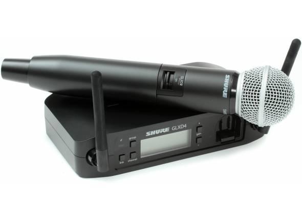 Sistema sem fios com microfone de mão Shure GLXD24/SM58