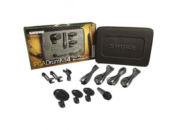 Microfone para bateria/Conjunto de microfones para bateria Shure PGA Drumkit 4