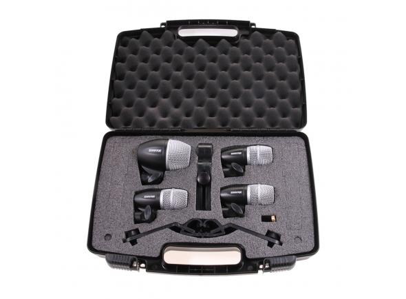 Conjunto de microfones para bateria Shure PGDMK4-XLR 4 microfones