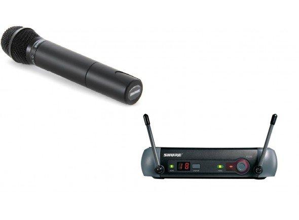 Sistema sem fios com microfone de mão/Sistema sem fios com microfone de mão Shure PGX4E+SM87
