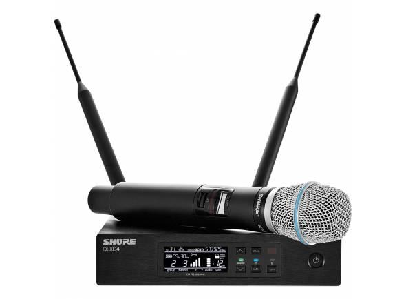 Sistema sem fios com microfone de mão Shure QLXD24/B87A H51