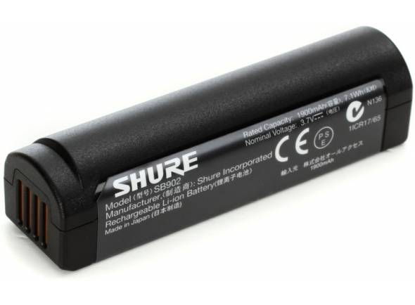 Pocket e Recetor Shure SB902