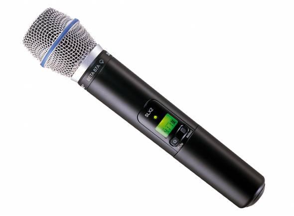 Microfones para sistema sem fios Shure SLX2/BETA87A L4E