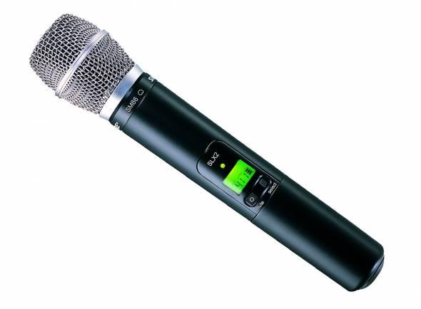 Microfones para sistema sem fios Shure SLX2/SM86 L4E