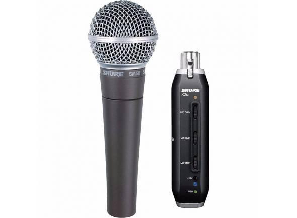 Microfone Vocal Dinâmico Shure SM58 X2U