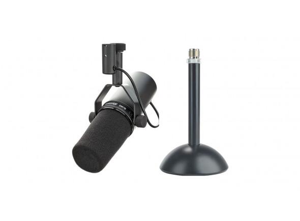 Microfone de membrana grande Shure  SM7B + Suporte