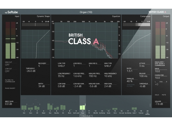Updates e Upgrades Softube British Class A for Console 1