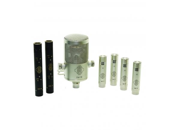 Conjunto de microfones para bateria Sontronics DrumPack Plus
