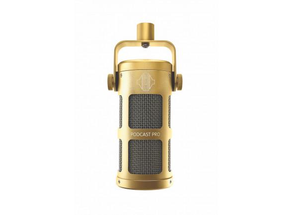 Microfone Vocal Dinâmico Sontronics  Podcast Pro - Gold