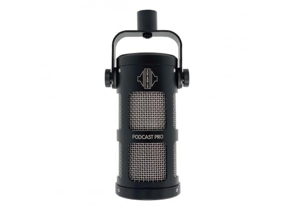 Microfone Vocal Dinâmico Sontronics Podcast Pro Microphone, Black