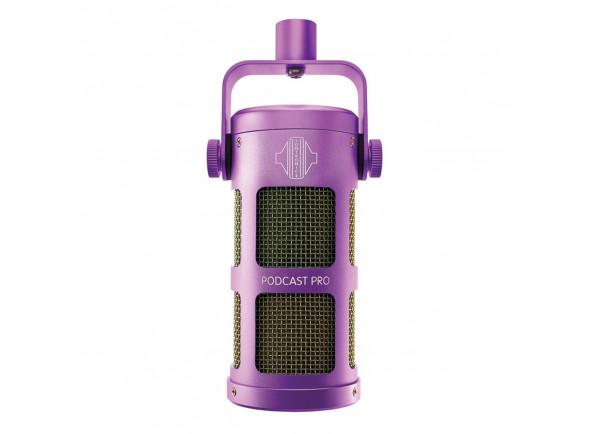 Microfone Vocal Dinâmico Sontronics  Podcast Pro - Purple
