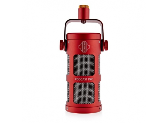 Microfone dinâmico/Microfone de membrana grande Sontronics Podcast Pro - Red