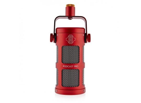 Microfone dinâmico/Microfone de membrana grande Sontronics Podcast Pro - Red B-Stock
