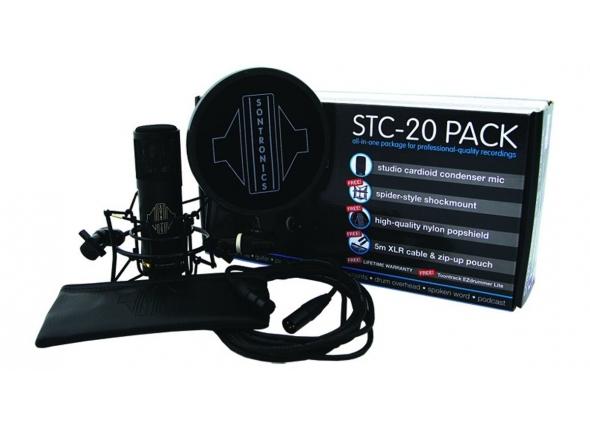Microfone de membrana grande Sontronics STC-20-Pack