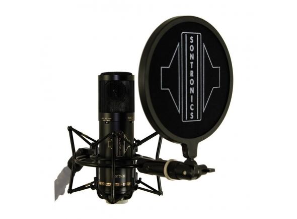Microfone de membrana grande Sontronics STC-3X Pack black