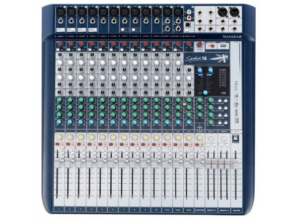 Mesa de Mistura Analógica Soundcraft Signature 16