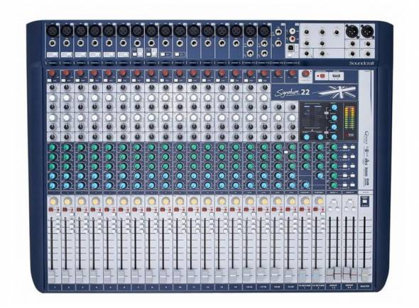 Mesa de Mistura Analógica Soundcraft Signature 22