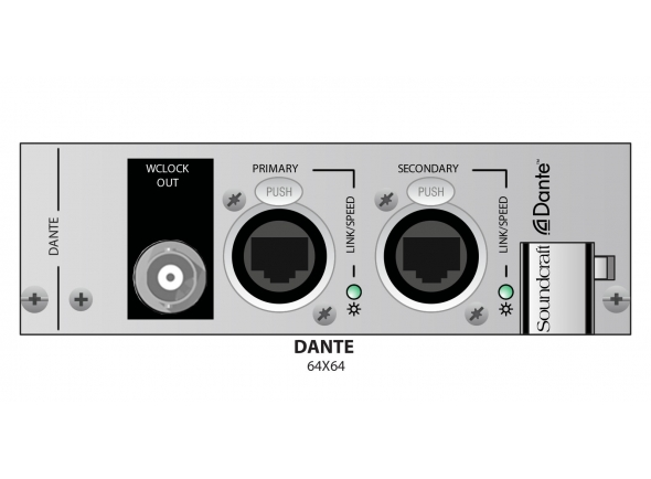 Sistemas multicore digitais Soundcraft VI-Dante Card