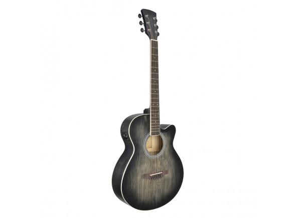 Guitarras clássicas eletrificadas Soundsation  SAGUARO HW-CE-BK