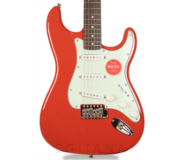 Guitarra Stratocaster/Guitarras formato ST Squier  FSR Classic Vibe Stratocaster 60s, LRL Fiesta Red