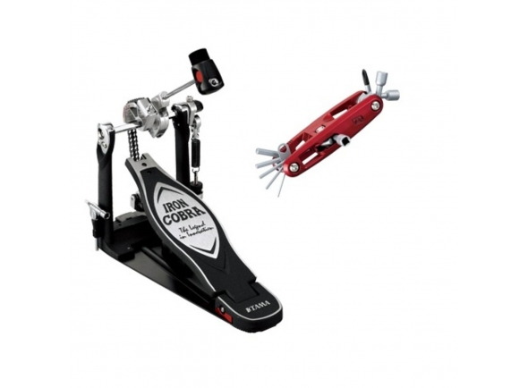 Pedal para Bateria Tama Iron Cobra Powerglide HP900PNB with Case and Free Multi Tool