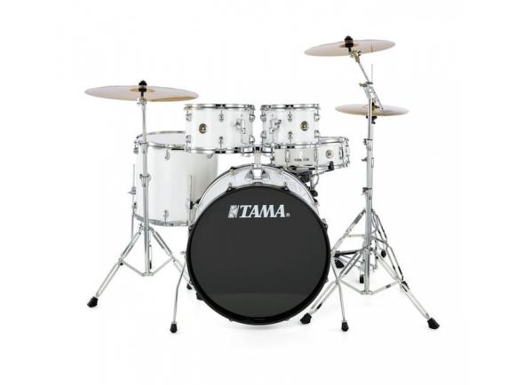 Conjunto de bateria completo Tama Rhythm Mate Studio White