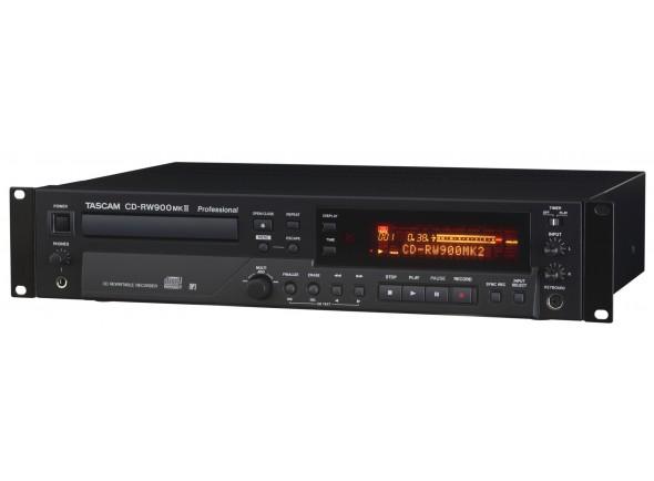 Gravador CD RW Profissional/Gravadores Digitais Tascam CD-RW 900 MK2