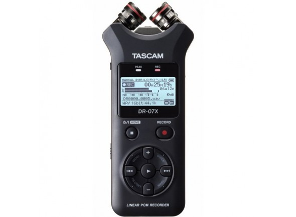 Gravador de áudio portátil e interface USB/Gravadores Portáteis Tascam DR-07X