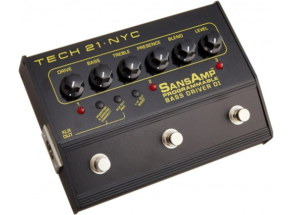 Di Box/Pedaleiras de efeitos para baixo Tech 21 Bass Driver D.I. Programmable