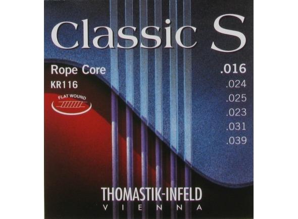 Jogos de cordas para guitarra clássica Thomastik CLASSIC S Rope Core KR116