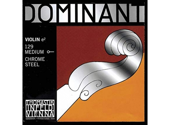 Corda para violino/Cordas Thomastik Dominant 1/4 Violin Mi String, Chrome Steel