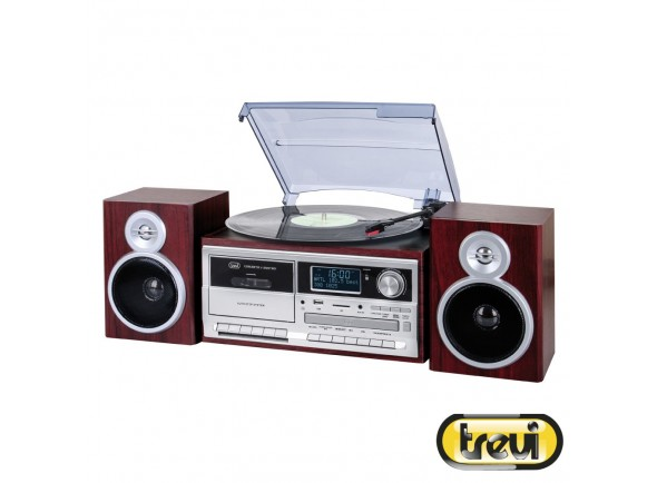 Gira-Discos /Gira-discos  Trevi Gira-Discos 33/45/78RPM Retro 2x25W Cd/USB/SD