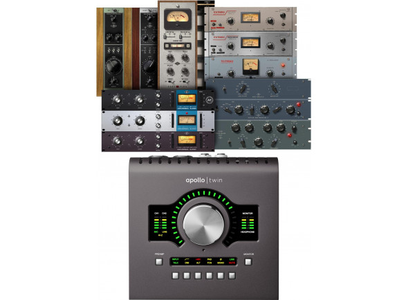 Interfaces de áudio Thunderbolt Universal Audio Apollo Twin MKII Duo Heritage