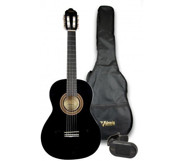 Guitarra Clássica (criança) 3/4/Guitarra Clássica Valencia 103K 3/4 Pack Black