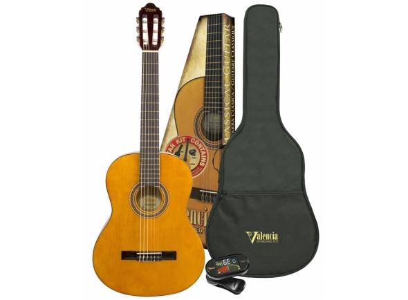 Guitarra Clássica Valencia VC101K 1/4 PACK NAT