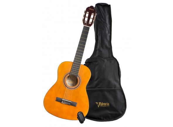 Guitarra Clássica Valencia VC102K 1/2 PACK
