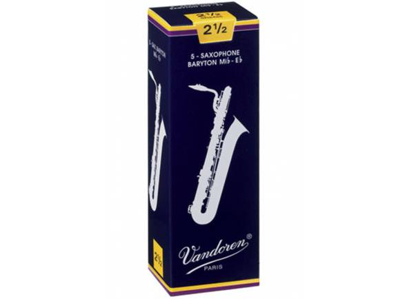 Palheta nº2.5/Palheta para saxofone barítono Vandoren Classic Blue 2.5 Baritone Sax