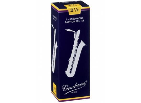 Palheta nº3/Palheta para saxofone barítono Vandoren Classic Blue 3 Baritone Sax