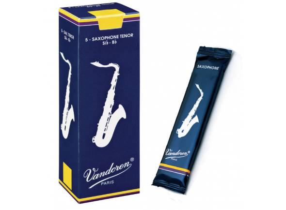 Palheta nº4/Palheta para saxofone tenor Vandoren Classic Blue 4 Tenor Sax