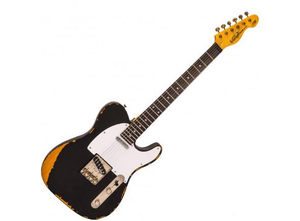 Guitarras formato T Vintage  V62 ICON Distressed Black