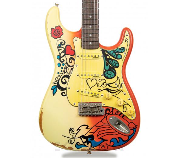 Guitarras formato ST Vintage V6 Thomas Blug 'Summer of Love' V6MRHDX