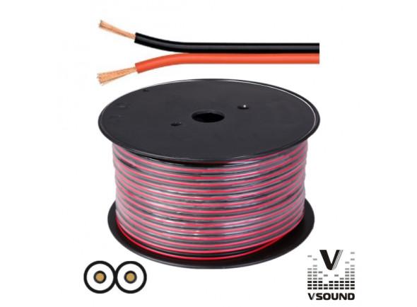 Cabos de coluna VSOUND  2x0.75mm Preto/Vermelho Paralelo