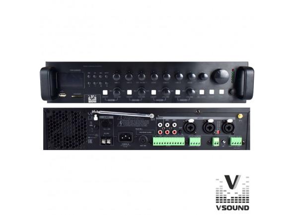 Amplificadores VSOUND  Amplificador PA 12/230V 3 Entradas 360W Mp3/USB/SD/BT