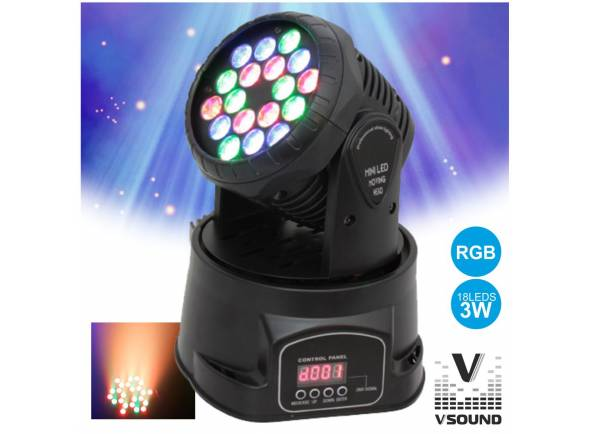 Moving Head LED/Moving Heads LED VSOUND LEDMV183RGB